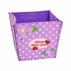 """Корзинка подарочная """"Цветочный сад"""" 11*10*10 см фиолетовый 02-8647D, 775-787"""