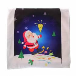 Наволочка декоративная 40*40см Дед Мороз, 141-924