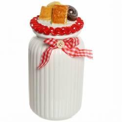 """Банка для сыпучих продуктов """"Печеньки"""" 1000мл, керамика ZL150720-1,315-0206"""