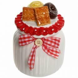 """Банка для сыпучих продуктов """"Печеньки"""" 600мл, керамика ZL150720-2, 315-0205"""