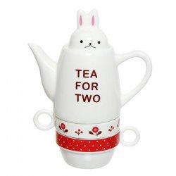 Набор чайный керамический 3 предмета (чайник500мл+2кружки 200мл), 363-069