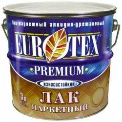 Лак паркетный EUROTEX-PREMIUM глянцевый, 3л