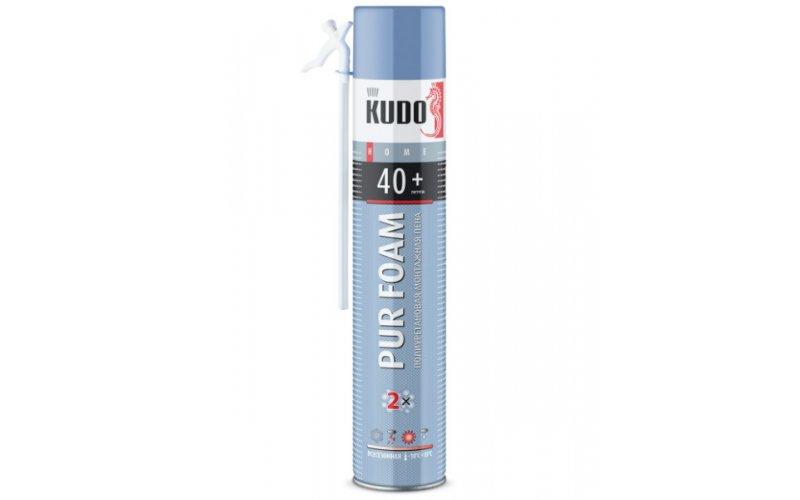 Пена полеуретановая монтажная бытовая всесезонная KUDO HOME40+