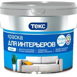 ТЕКС Краска водоэмульсионная интерьерная супербелая 9л ПРОФИ
