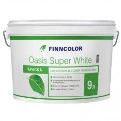 Водоэмульсия OASIS SUPER WHITE краска для потолков 9 л