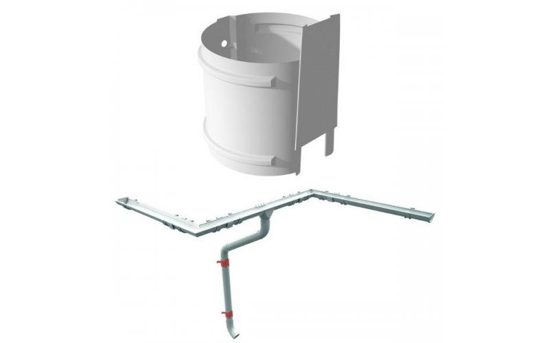 Хомут крепления водосточной трубы на кирпич с шурупом металл RUUKKI (RR20 белый)