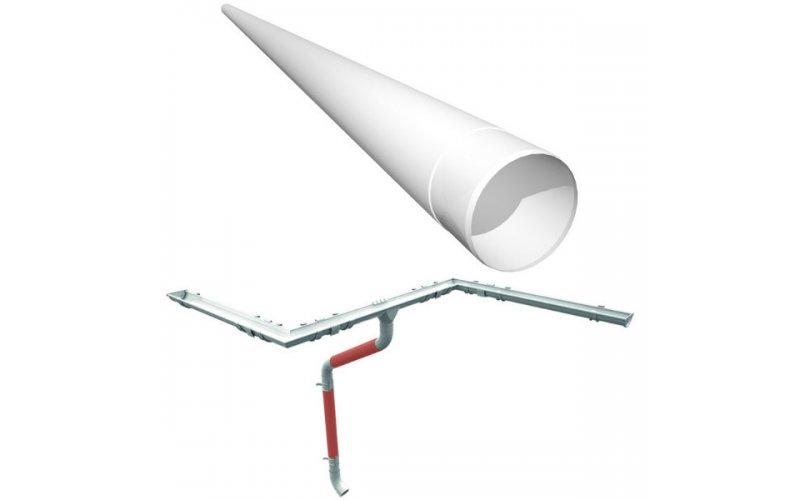 Водосточная труба 2,5 м.п металл RUUKKI (RR20 белый)