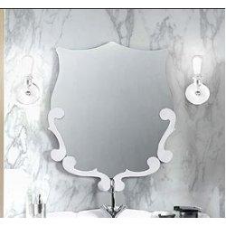 Зеркало Вена В 90  бел мат.(18)