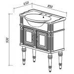 Тумба  Рояль  Н 85-02  (17) (тумба ,умывал.Рояль 850)