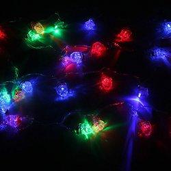 Гирлянда свет. для дома 4м,28 лампы LED, Дед Мороз, RG/RB, авторежимы, прозр.пров., 183-590