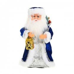 Дед Мороз музыкальный 30см с фонариком, 188-012