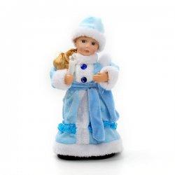 Снегурочка музыкальная 30см со свечкой, 188-049