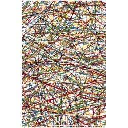 Ковёр KOLIBRI FRIZE 11035/110 2,0м х 3,0м Белый паутинки