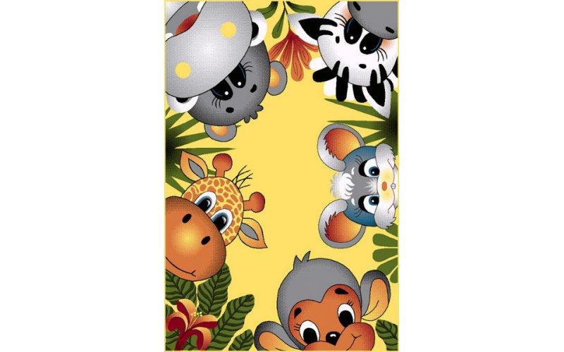 Детский коврик 1,60 х 2,30 11058/150 Африка жёлтый
