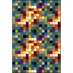 Ковёр KOLIBRI FRIZE 11161/130 2,0м х 3,0м Цветные квадраты