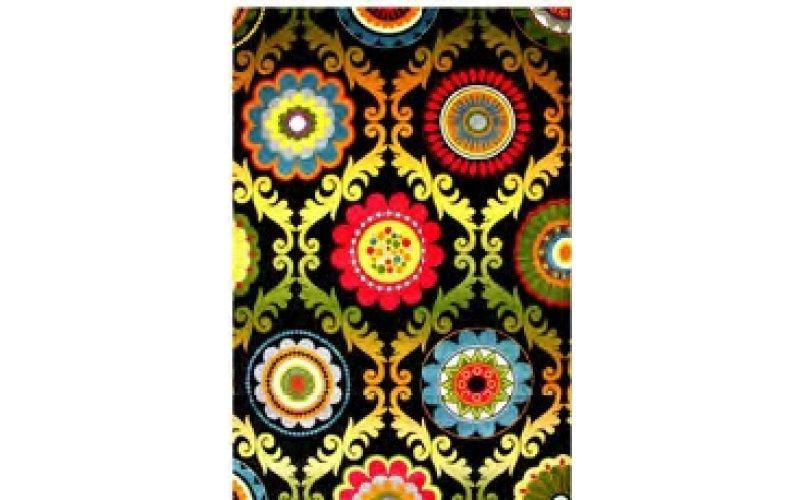 Ковёр KOLIBRI FRIZE 11003/180 1,60 х 2,30 Хохлома цвет черный