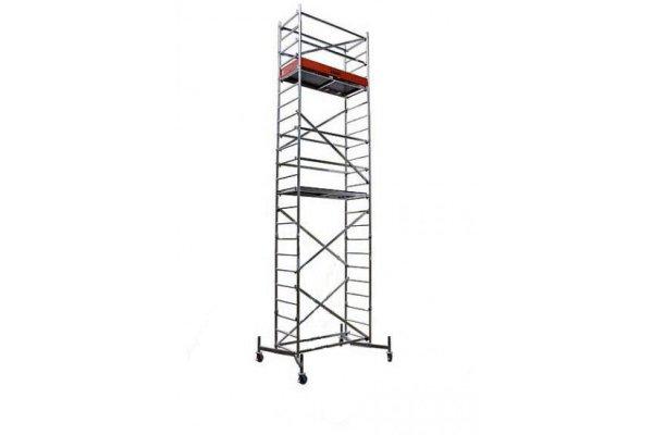 Алюминиевая передвижная вышка ClimTec Высота рабочая 7м