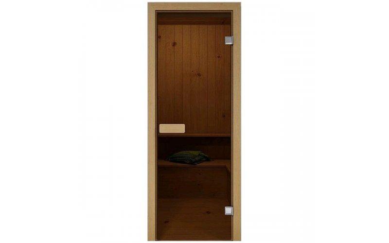 Дверь для сауны стеклянная 190х70см Бронза
