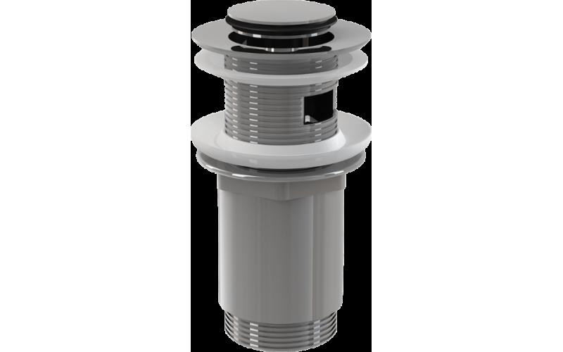 Водослив для умывальника ALCAPLAST А391 click/clack 5/4 цельнометаллический с малой заглушкой