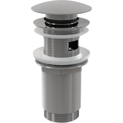 Водослив для умывальника ALCAPLAST А392 click/clack 5/4 цельнометал. с большой заглушкой